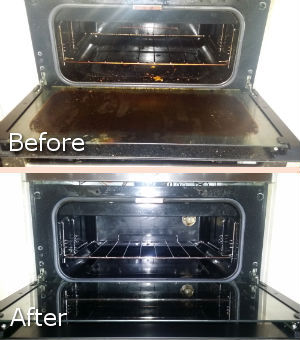 Clean Oven Before and After